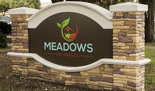 Community Signage, Meadows on Merrill