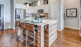 Kitchen, RIZE at Opus Park Apartments