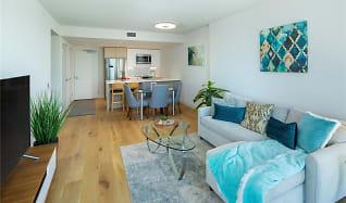 Living Room, 1001 Queen St Apt 1802