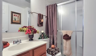 Bathroom, Woods Mill Park Apartments & Townhomes