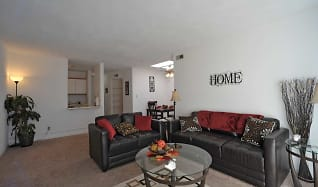 Living Room, Round Balconies