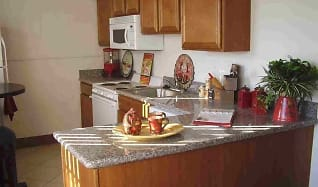 Kitchen, Collins Terrace Apartments