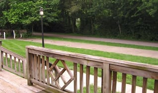 View of the Monon Trail from Deck, Broad Ripple Apartments