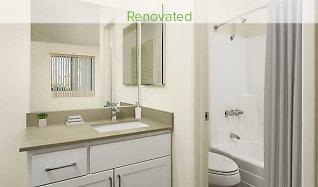 Bathroom, eaves Phillips Ranch