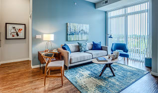 Living Room, RIZE at Opus Park Apartments