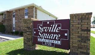 Community Signage, Seville Square Apartments