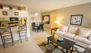 Living Room, The Landings At The Preserve Apartments