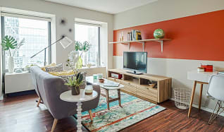Living Room, Axis Apartments and Lofts