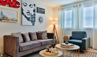 Living Room, The Canvas Apartments