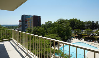 View of Pool from the Balcony, The Aspen