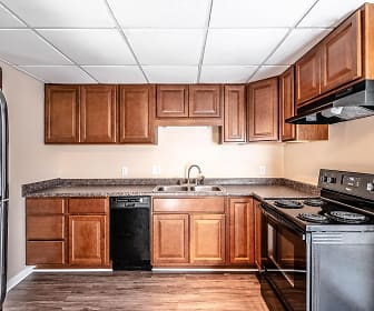 Kitchen, Woodbridge Apartments