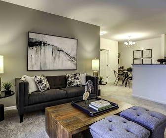 Living Room, Highland Ridge Apartments