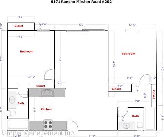 6171 Rancho Mission Rd #202, Lewis Middle School, San Diego, CA