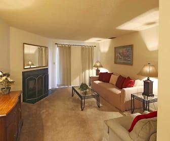 Living Room, Royal Hills Apartments