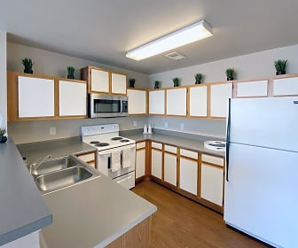 Fully applianced kitchens featuring all the appliances you've come to rely on., Meridian Club Apartments