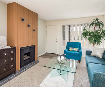 Living Room, Pepperwood Apartments