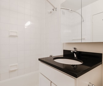 full bathroom featuring mirror, toilet, shower / bathing tub combination, and vanity, The Westmont