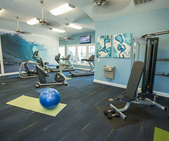Get a workout in our brand-new, fully-equipped fitness center., The Grande View Apartments