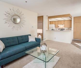 Living Room, Pepperwood Apartments
