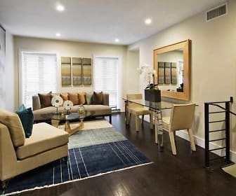 Living Room, Apartments at Plano West
