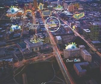 aerial view, City Club Apartments Crossroads KC