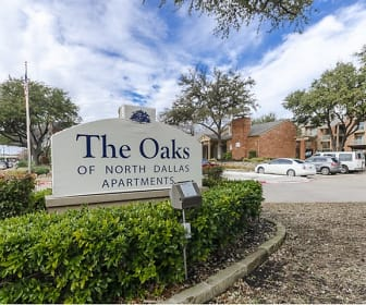 Community Signage, Oaks of North Dallas Apartments