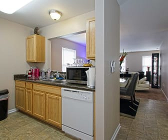 Kitchen, Palmer Court Townhomes