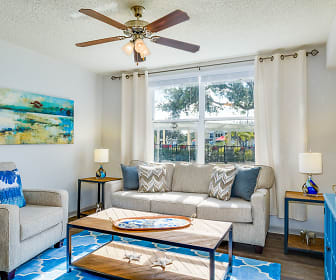 Madalyn Landing Apartments - Palm Bay, FL - Living Area with Plank Wood Flooring, Madalyn Landing