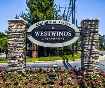 Community Signage, Westwinds Apartments