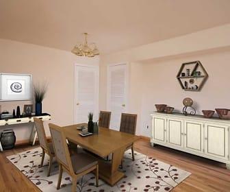 view of hardwood floored dining space, Waterside Village