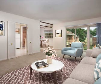 living room featuring natural light and refrigerator, Deerfield Run & Village Square North