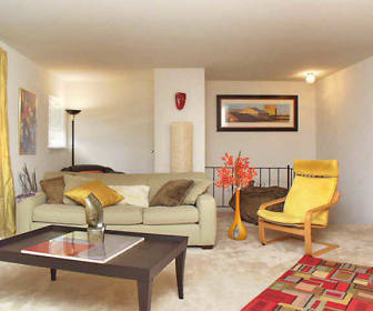 Living Room, Pointe Breeze Apartments