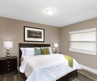 Bedroom, Nine-4-Nine Apartments