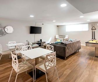 dining room with hardwood flooring, natural light, and TV, Lassen Village