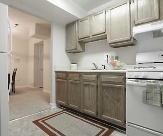 Kitchen, Parkway Apartments