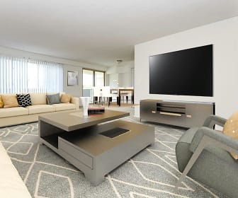 Living Room, Towers Of Windsor Park Apartment Homes