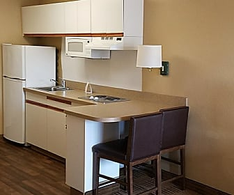 Kitchen, Furnished Studio - Dallas - DFW Airport N.