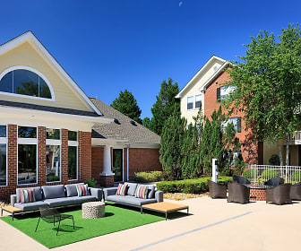 Poolside Lounge and Fire Pit with Cozy Seating, Bexley Square At Concord Mills Luxury Apartments