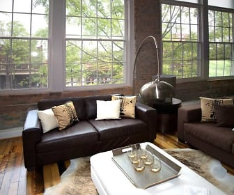 living room, Montgomery Square Apartments
