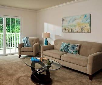 Living Room, Glenmont Abbey Village - 55+ Living