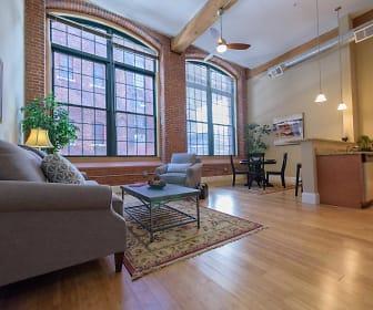 Living Room, Pacific Mill Lofts
