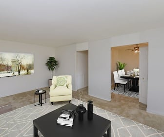 view of tiled living room, Woodacres Apartment Homes