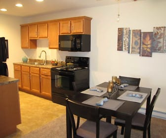Kitchen, Courtyard Apartments