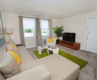 Living Room, Oak Grove Apartments & Townhomes