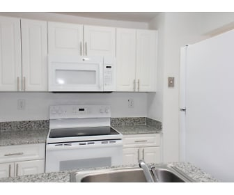 Kitchen, International Club Apartments
