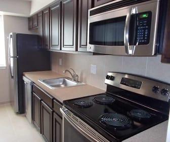Kitchen, Helfrich Spring Apartments