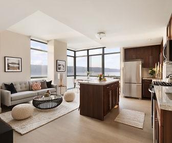 Living Room, River Club at Hudson Park