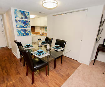 Dining Room, Lake Towers Apartments