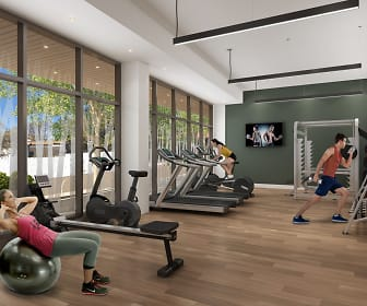 Fitness Weight Room, Jones Berkeley Apartments