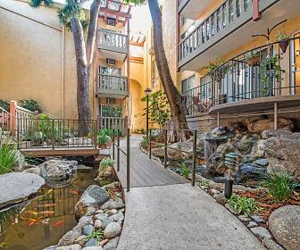 Fountains and Koi pond at Mediterranean Village Apartment Homes, Mediterranean Village